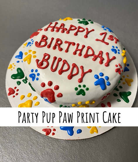 Paw Print Party Pup Cake