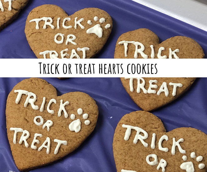 Trick or treat heart cookies