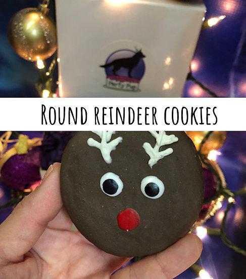 Round reindeer cookies