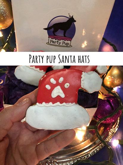 Party pup Santa Hats