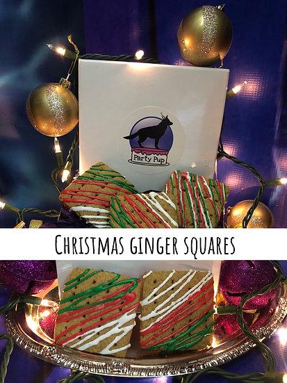 Christmas Ginger Squares