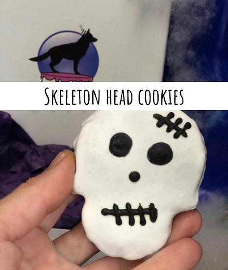 Skeleton head cookies