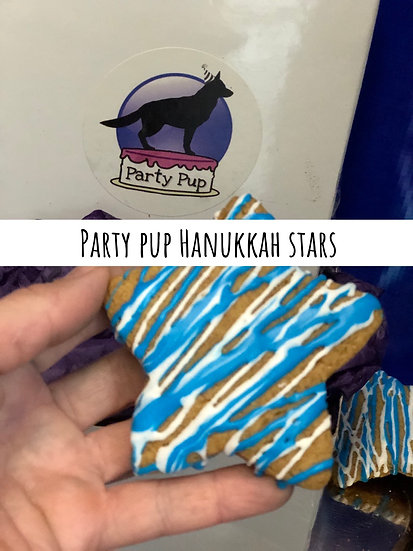 Party pup Hanukkah stars