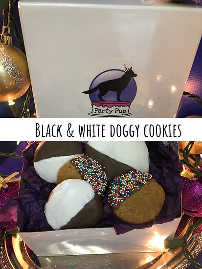 Black & white doggy cookie