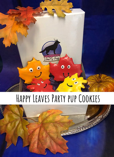 Happy leaves party pup cookies