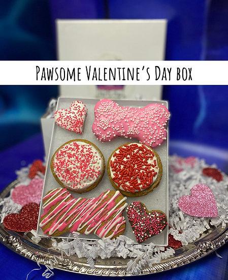 Pawsome Valentine's Day box