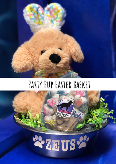 Party Pup Easter Basket