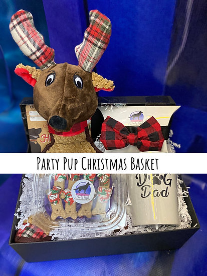 Party Pup Christmas Basket