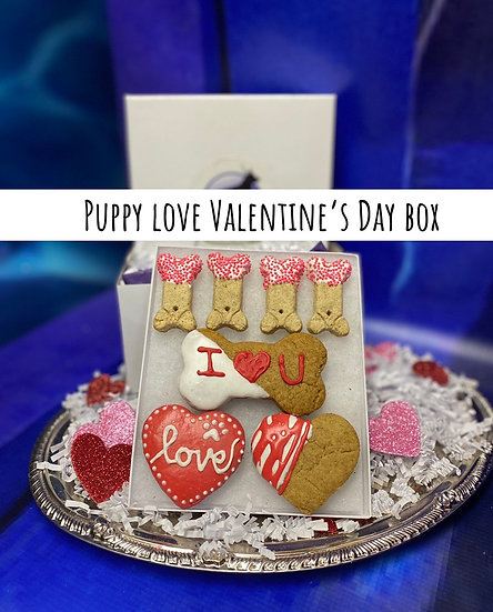 Puppy love Valentine's Day box