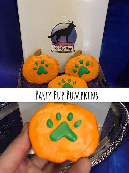 Party pup pumpkin cookies
