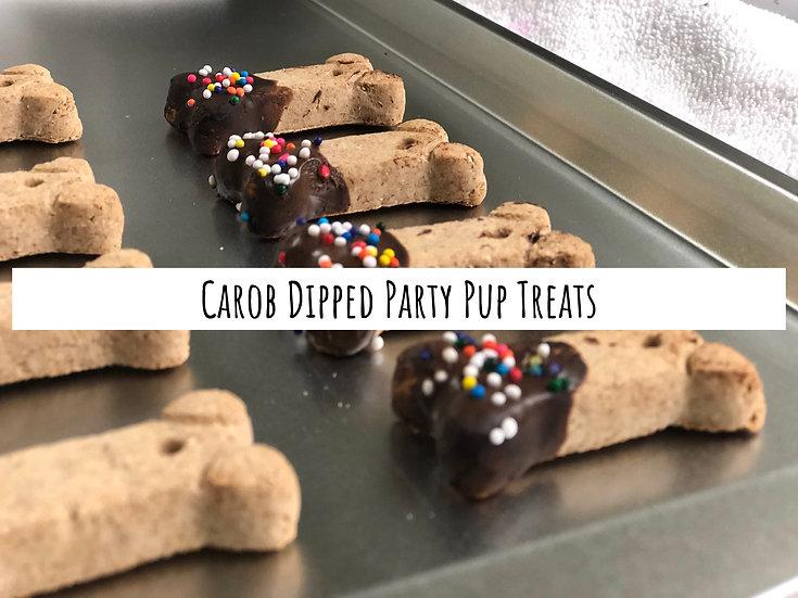 Carob Dipped Party Pup Treats