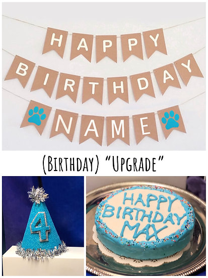 "Upgrade Birthday Box 6"" Cake, Hat, Sign & Candle"