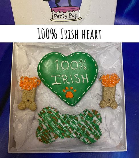 100% Irish heart box
