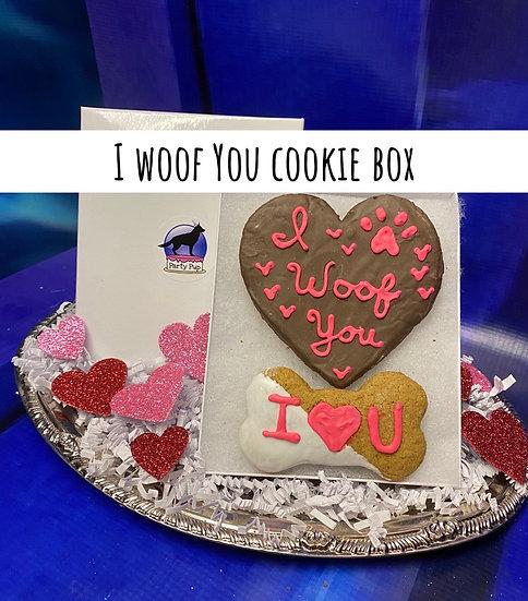 I Woof You Carob Heart Cookie Box