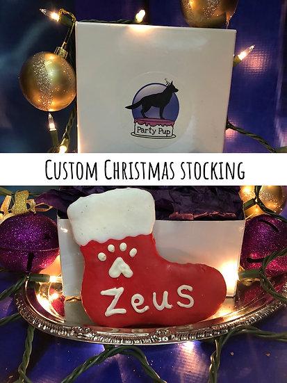 Custom Christmas stocking cookie