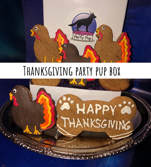 Thanksgiving party pup box