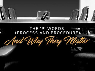 What To Do About Process, the P-word?