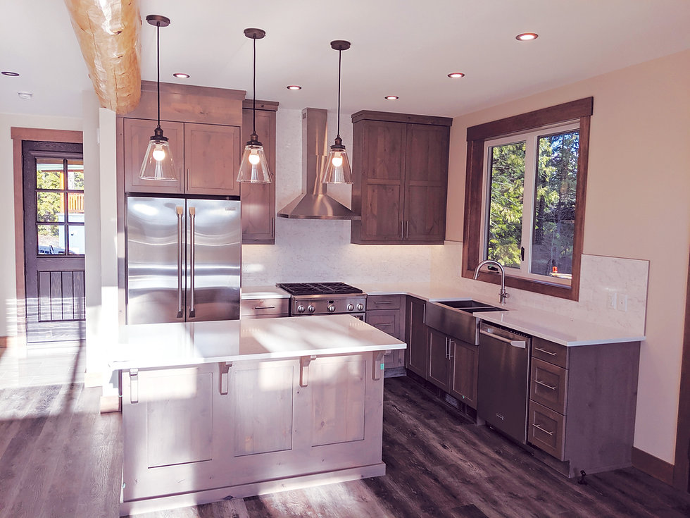 brown wood custom cabinetry & millwork,