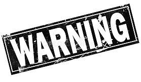 warning-word-black-frame-d-rendering-war