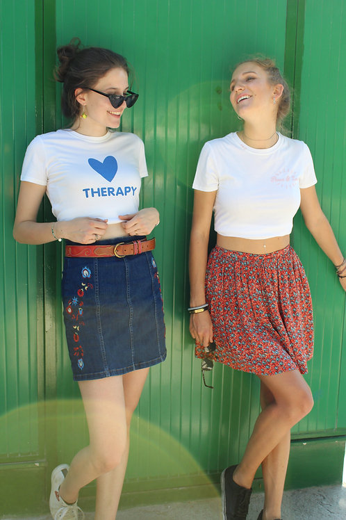 """T-shirt """"Heart Therapy"""" - Petite"""