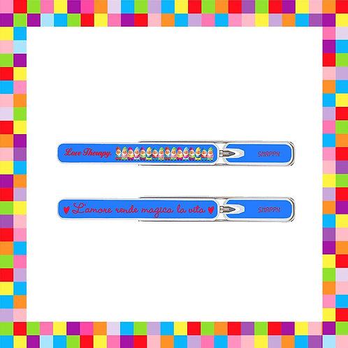 Snappy pen, blu