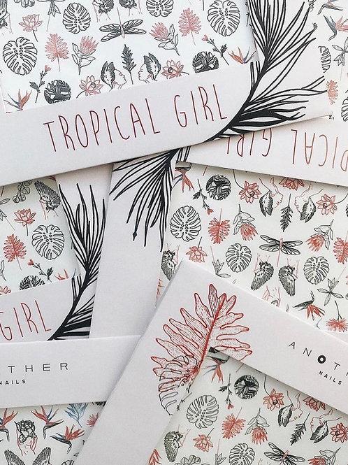 "Nail Decals ""Tropical Girl"" 2 sheets"