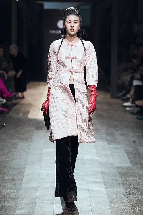 Quilted Cotton Blush Silk Jacket
