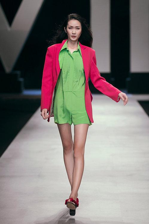 Light Green Crepe de Chine Shirt