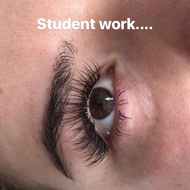 Eyelash Extension Training available at Dockerys Brow Bar!_This is our students work from our recent