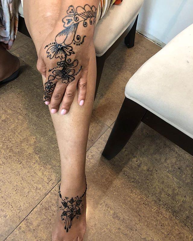Body Henna done at Dockerys Brow Bar