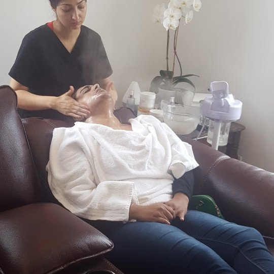 Facials available at Dockerys Brow Bar! Come relax!