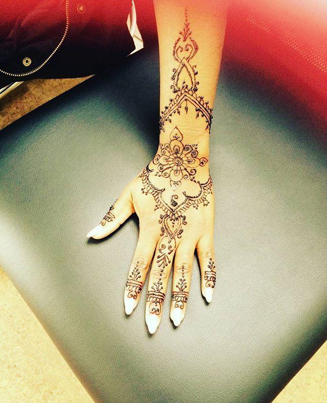 Henna done at Dockerys Brow bar
