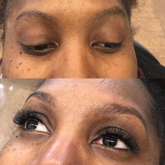 Brow Threading and Cluster lashes by Amrit