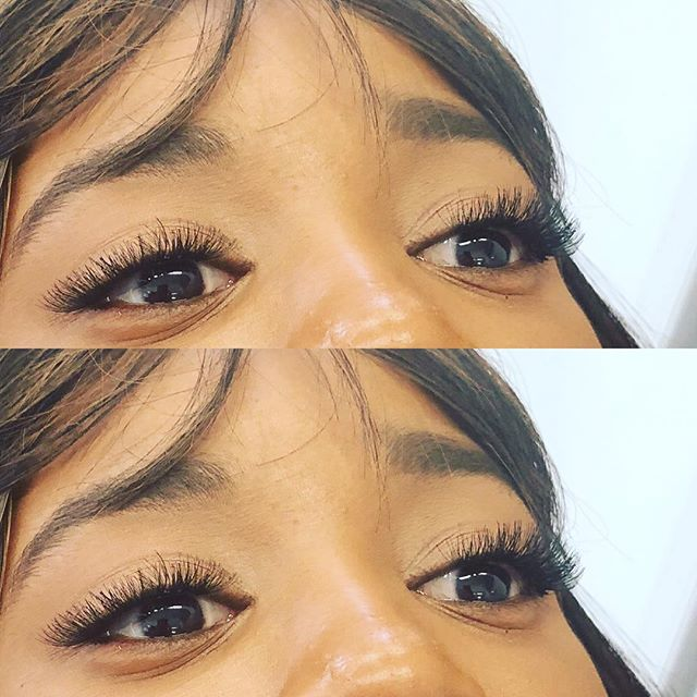 Cluster lashes done at Dockerys Brow Bar! Need a quick lash fix_