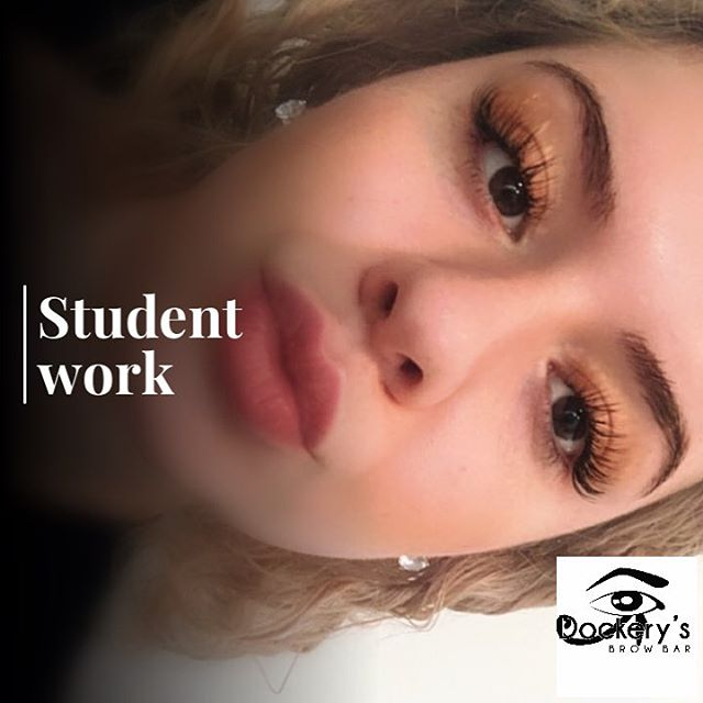 Eyelash Extension Student Work! _Eyelash Extension Training available at Dockerys Brow Bar!__1 on 1