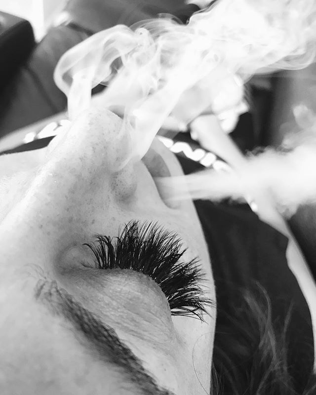 Are your lashes Smokin' Hot__Volume lashes done by Tamika