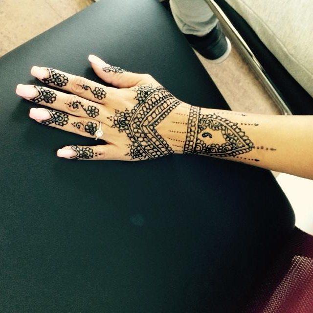 Henna done at Dockerys Brow bar!!