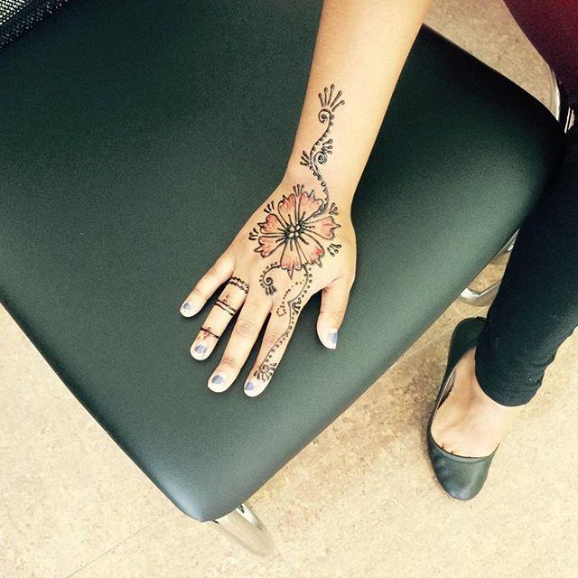 Henna done at Dockerys Brow bar!