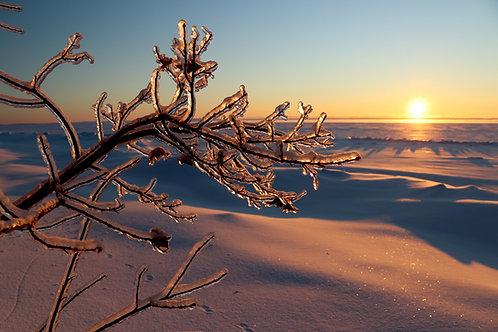 Blank Card with Envelope - Lake Superior Sunrise February