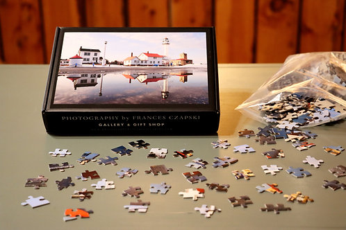 504 Piece Puzzle - Spring - Whitefish Point Lighthouse