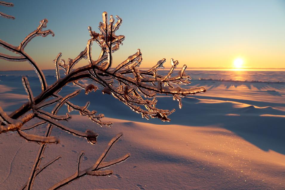February Sunrise - Lake Superior's Whitefish Bay