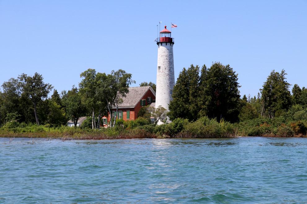 St. Helena Island Light Station - Lake Michigan