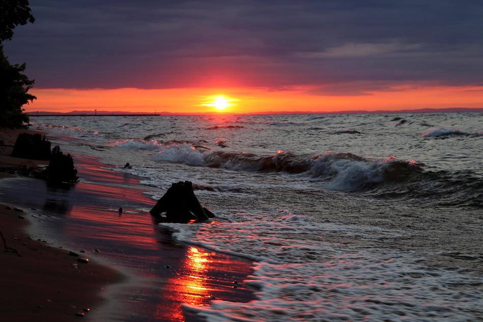 Sunrise over Whitefish Bay
