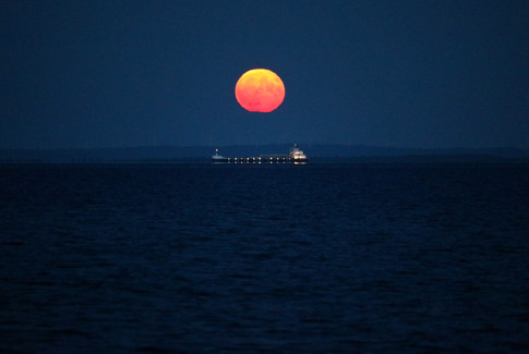 August Moonrise Over Lake Superior