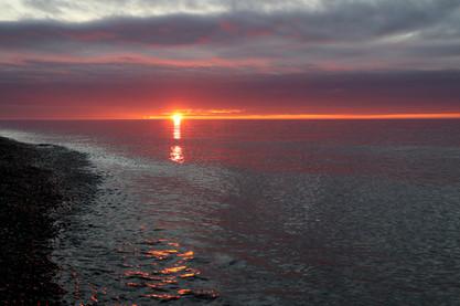 Sunset over Lake Superior