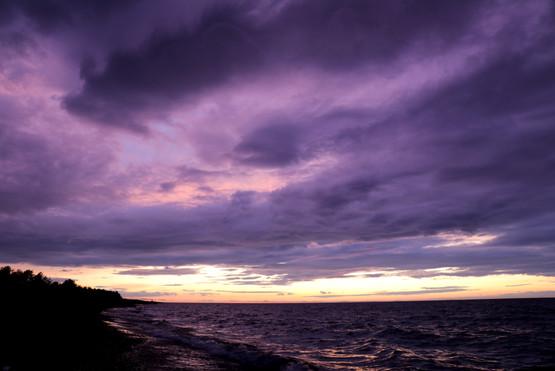 August Purple Sunset Sky