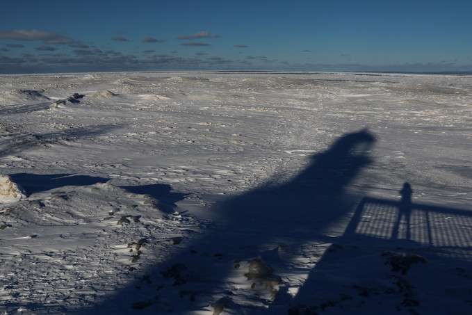 Long Winter Shadows at Whitefish Point Lighthouse