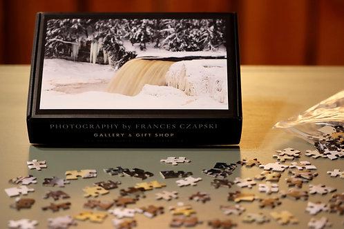 504 Piece Puzzle - Winter - Upper Tahquamenon Falls