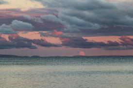 Full Moonrise over Lake Superior
