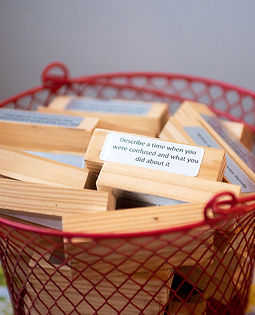 Basket of questions used during therapy
